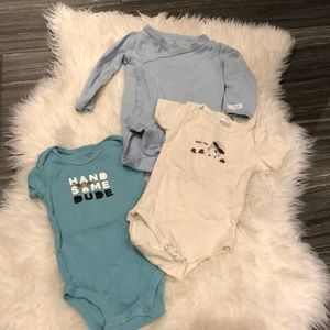 Handsome guy onesie bundle for 6-12mo